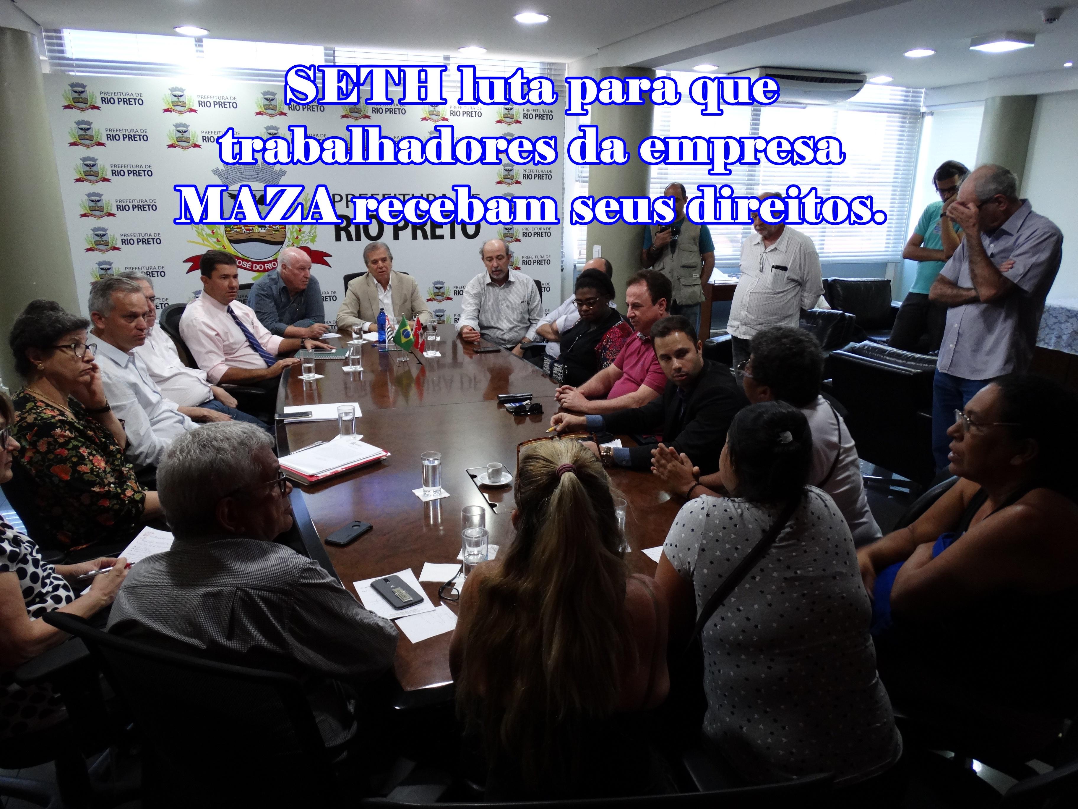 SETH luta ao lado dos trabalhadores