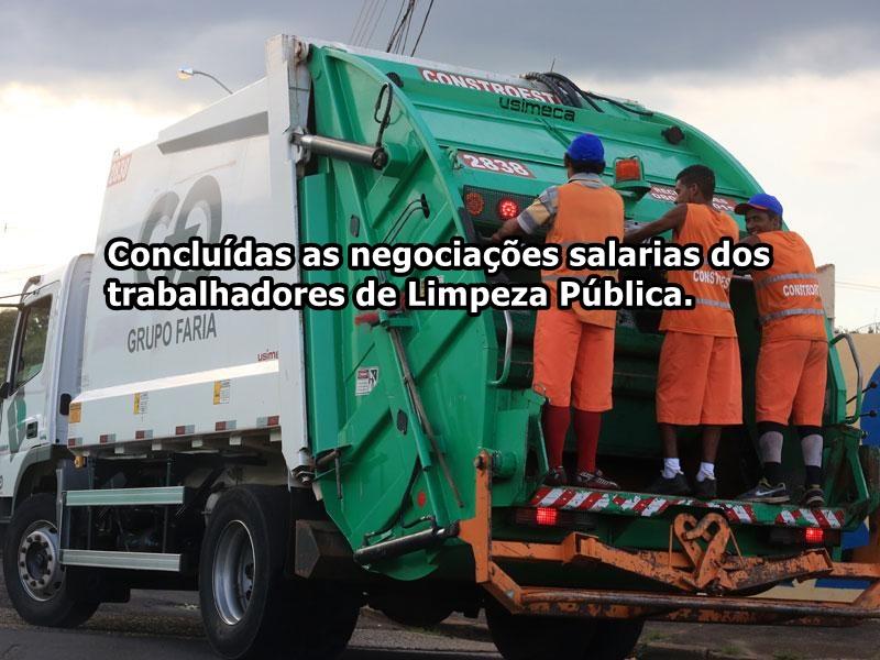Trabalhadores em Limpeza Pública tem novo reajuste
