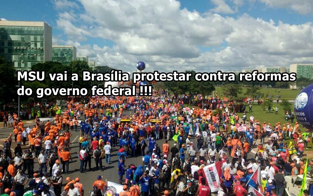MSU vai a Brasília!!!