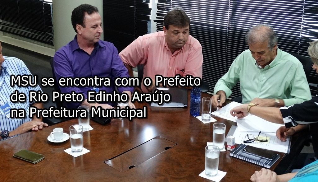 Edinho Araújo participa de encontro com sindicalistas