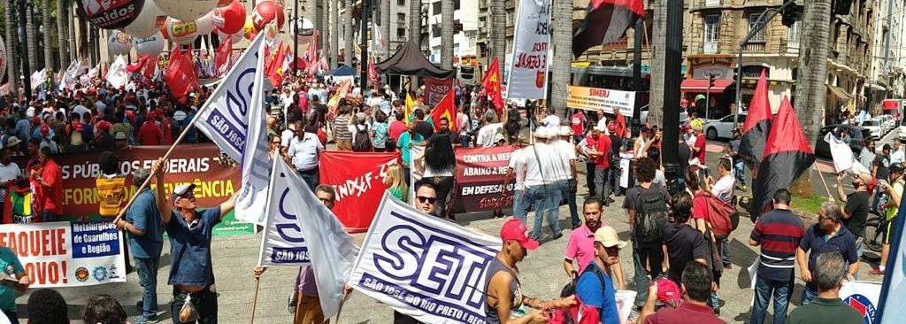 SETH e MSU contra a reforma da previdência