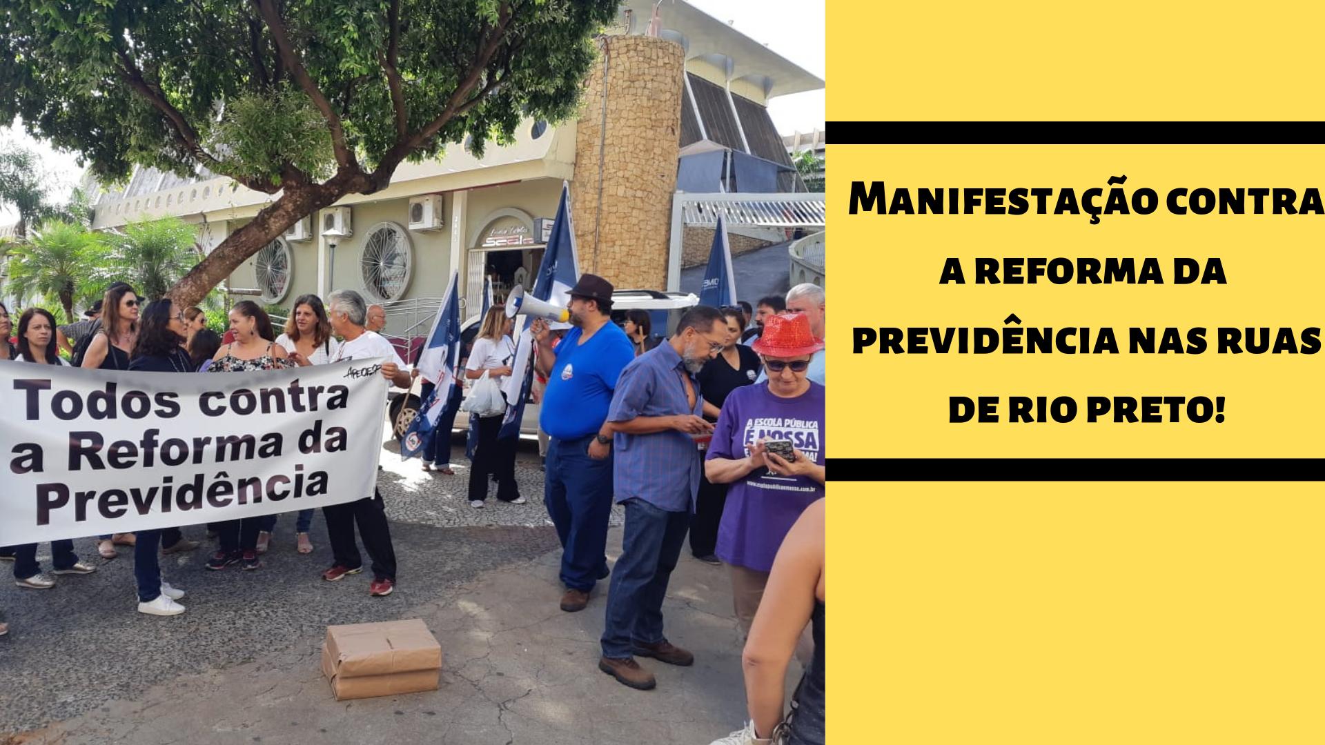 Manifestação nas ruas de Rio Preto