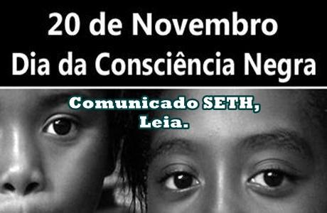 COMUNICADO SETH – CONSCIÊNCIA NEGRA