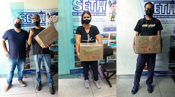 SETH entrega cestas básicas e Benefícios Natalidade para trabalhadores